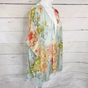 Band of Gypsies Sweaters - Band of Gypsies Floral Kimono